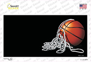 Basketball With Net Offset Wholesale Novelty Sticker Decal