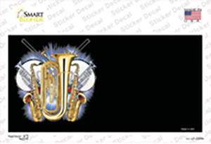Band Musical Instruments Offset Wholesale Novelty Sticker Decal