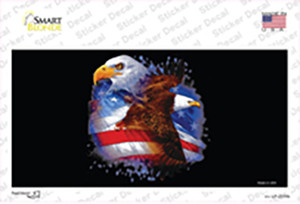 American Flag Eagles Wholesale Novelty Sticker Decal