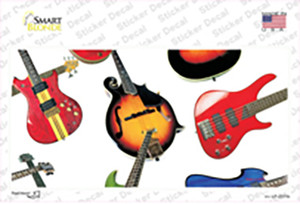 Guitars White Wholesale Novelty Sticker Decal