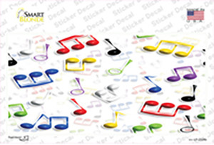 Musical Notes Multi-Color Wholesale Novelty Sticker Decal