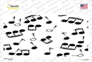 Musical Notes Black White Wholesale Novelty Sticker Decal
