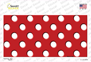 White Polka Dots Red Wholesale Novelty Sticker Decal