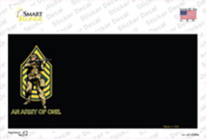 An Army of One Offset Motorcycle Wholesale Novelty Sticker Decal