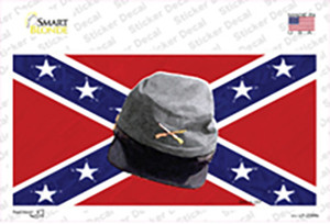 Confederate Army Cap Wholesale Novelty Sticker Decal