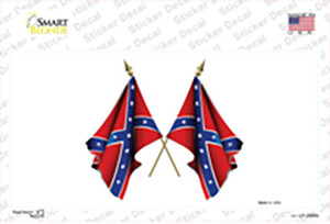 Confederate Crossed Flags Wholesale Novelty Sticker Decal