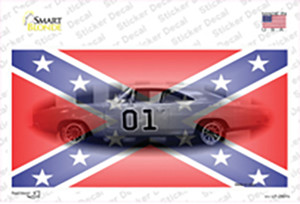 Confederate Flag Charger Wholesale Novelty Sticker Decal