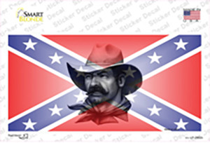 Confederate Flag Cowboy Wholesale Novelty Sticker Decal