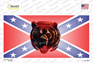 Confederate Flag Grizzly Bear Wholesale Novelty Sticker Decal