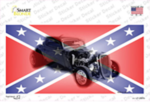 Confederate Flag Hot Rod Wholesale Novelty Sticker Decal