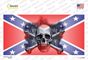 Confederate Flag Skull Wholesale Novelty Sticker Decal