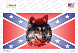 Confederate Flag Wolf Wholesale Novelty Sticker Decal