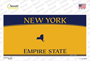 New York State Blanks Wholesale Novelty Sticker Decal