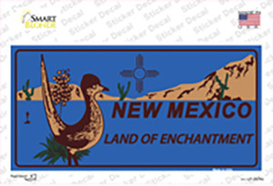 Roadrunner Blue New Mexico Wholesale Novelty Sticker Decal
