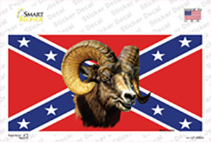 Confederate Flag Ram Wholesale Novelty Sticker Decal