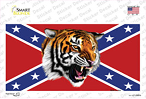 Confederate Flag Tiger Wholesale Novelty Sticker Decal