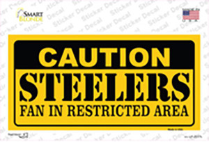 Caution Steelers Wholesale Novelty Sticker Decal