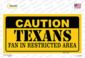 Caution Texans Wholesale Novelty Sticker Decal