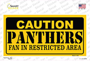 Caution Panthers Wholesale Novelty Sticker Decal