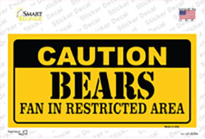 Caution Bears Wholesale Novelty Sticker Decal