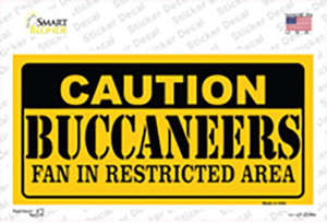 Caution Buccaneers Wholesale Novelty Sticker Decal