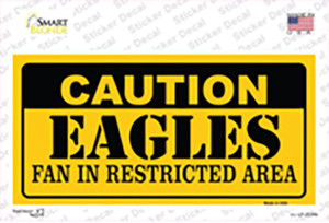 Caution Eagles Wholesale Novelty Sticker Decal