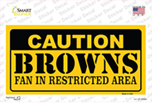 Caution Browns Wholesale Novelty Sticker Decal