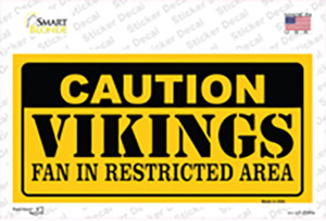 Caution Vikings Wholesale Novelty Sticker Decal