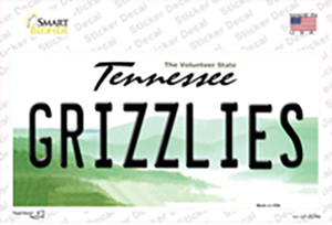 Grizzlies Tennessee State Wholesale Novelty Sticker Decal