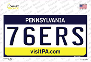 76ers Pennsylvania State Wholesale Novelty Sticker Decal