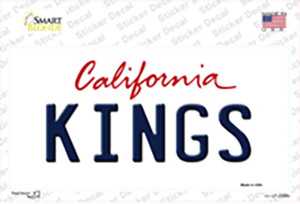 Kings California Background Wholesale Novelty Sticker Decal