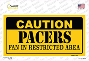 Caution Pacers Wholesale Novelty Sticker Decal