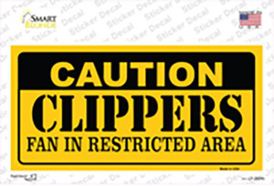 Caution Clippers Fan Wholesale Novelty Sticker Decal