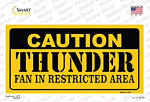 Caution Thunder Fan Wholesale Novelty Sticker Decal