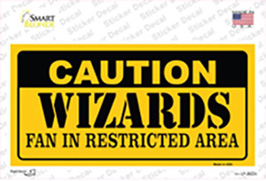 Caution Wizards Fan Wholesale Novelty Sticker Decal