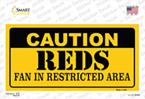 Caution Reds Fan Wholesale Novelty Sticker Decal