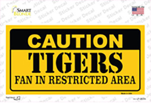 Caution Tigers Fan Wholesale Novelty Sticker Decal