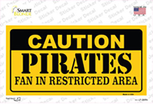 Caution Pirates Fan Wholesale Novelty Sticker Decal