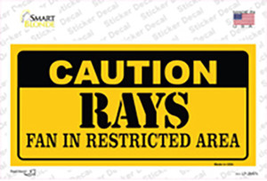Caution Rays Fan Wholesale Novelty Sticker Decal