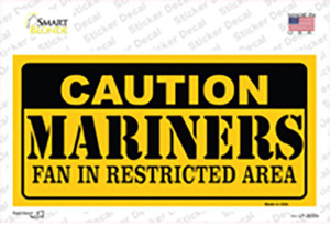 Caution Mariners Fan Wholesale Novelty Sticker Decal