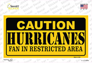 Caution Hurricanes Wholesale Novelty Sticker Decal