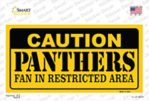 Caution Panthers Hockey Wholesale Novelty Sticker Decal