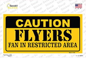 Caution Flyers Wholesale Novelty Sticker Decal