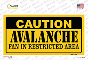 Caution Avalanche Wholesale Novelty Sticker Decal