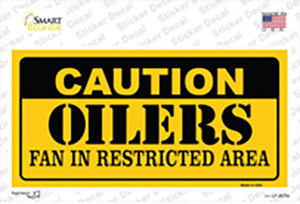 Caution Oilers Wholesale Novelty Sticker Decal