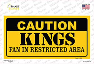 Caution Kings Wholesale Novelty Sticker Decal