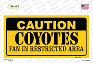 Caution Coyotes Wholesale Novelty Sticker Decal