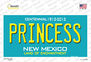 Princess New Mexico Teal Wholesale Novelty Sticker Decal
