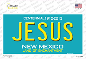 Jesus New Mexico Teal Wholesale Novelty Sticker Decal