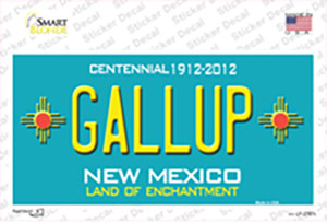 Gallup New Mexico Teal Wholesale Novelty Sticker Decal
